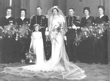 Betty Graham-Yooll at her wedding