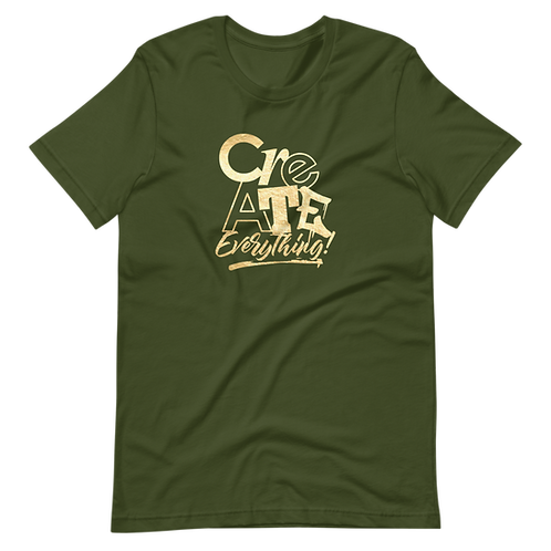 Create Everything Army Tee (Gold Foil)