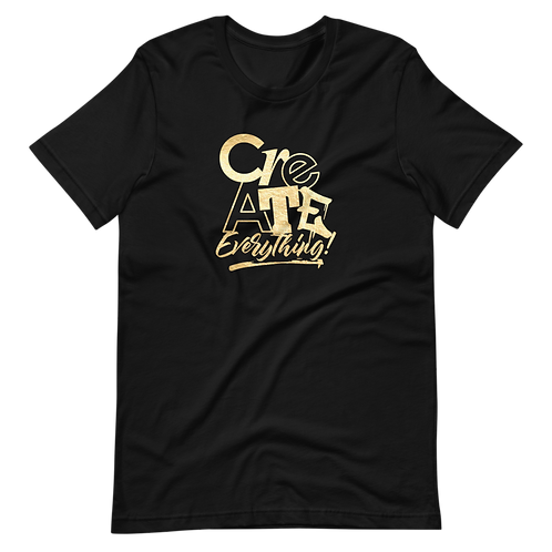 Create Everything Black Tee (Gold Foil)