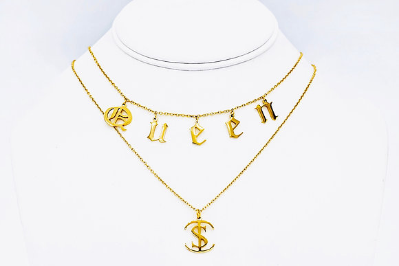 QUEEN Layered Necklace
