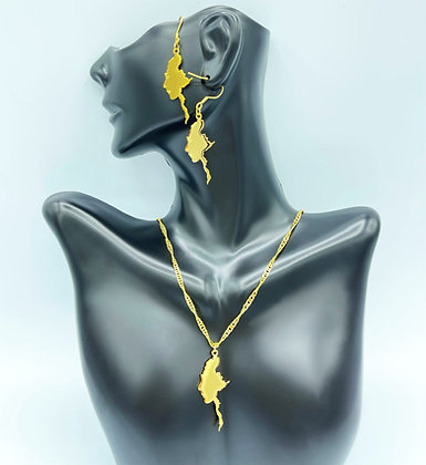 MOTHER OF BURMA (Necklace & Earrings Set)