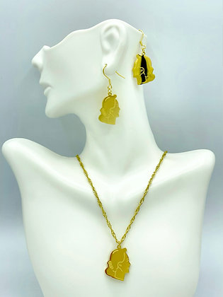 """THE LADY """"A-MAY SUU"""" (Necklace & Earrings Set)"""