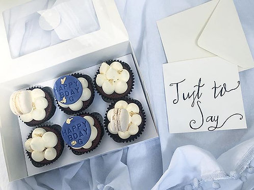 'Just to Say' Blue Happy Birthday Cupcakes