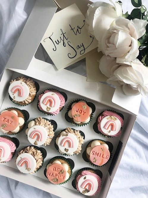 'Just to Say' Positive Vibes Cupcakes