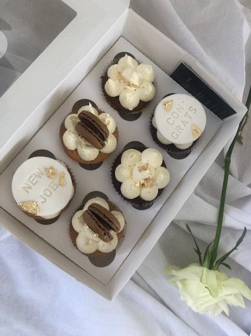 'Just to Say' New Job/Congrats Cupcakes