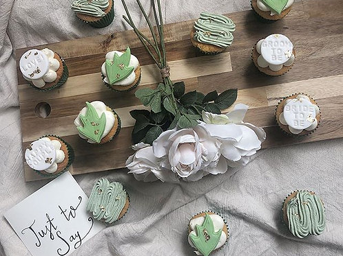 'Just to Say' Bride or Groom to be Cupcakes