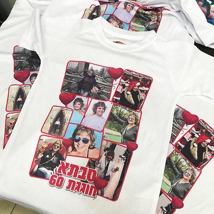 הדפסה על חולצה שני הצדדים