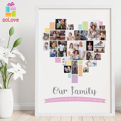 עיצוב לב משפחה 30*40