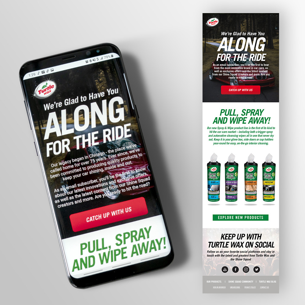 Turtle Wax Launch Email Campaign