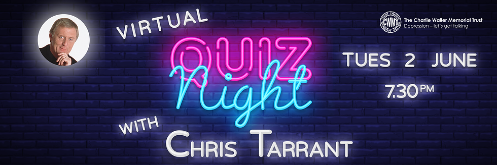 Virtual Quiz Night sign Chris Tarrant tw