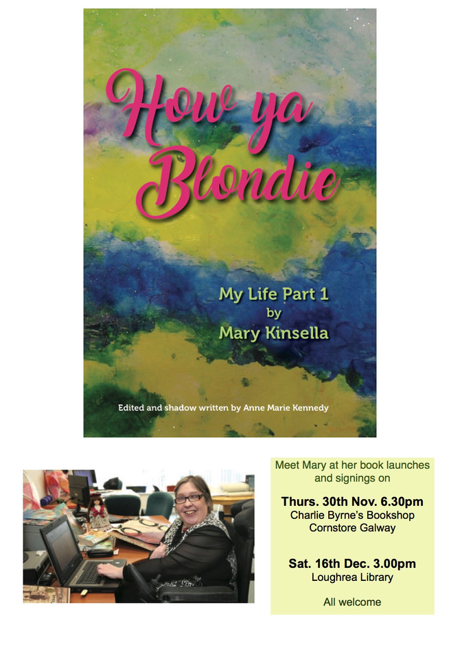 Mary Kinsella's Book Launch this Thursday in Galway