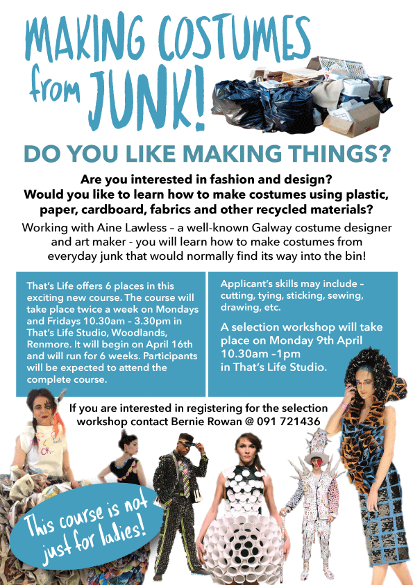 New Workshop - Making Costumes from Junk!