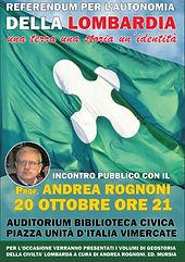 Incontro con Andrea Rognoni 20 ottobre ore 21