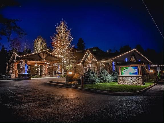 Chrismtas lights - Holiday Inn McCall - professional holiday lighting