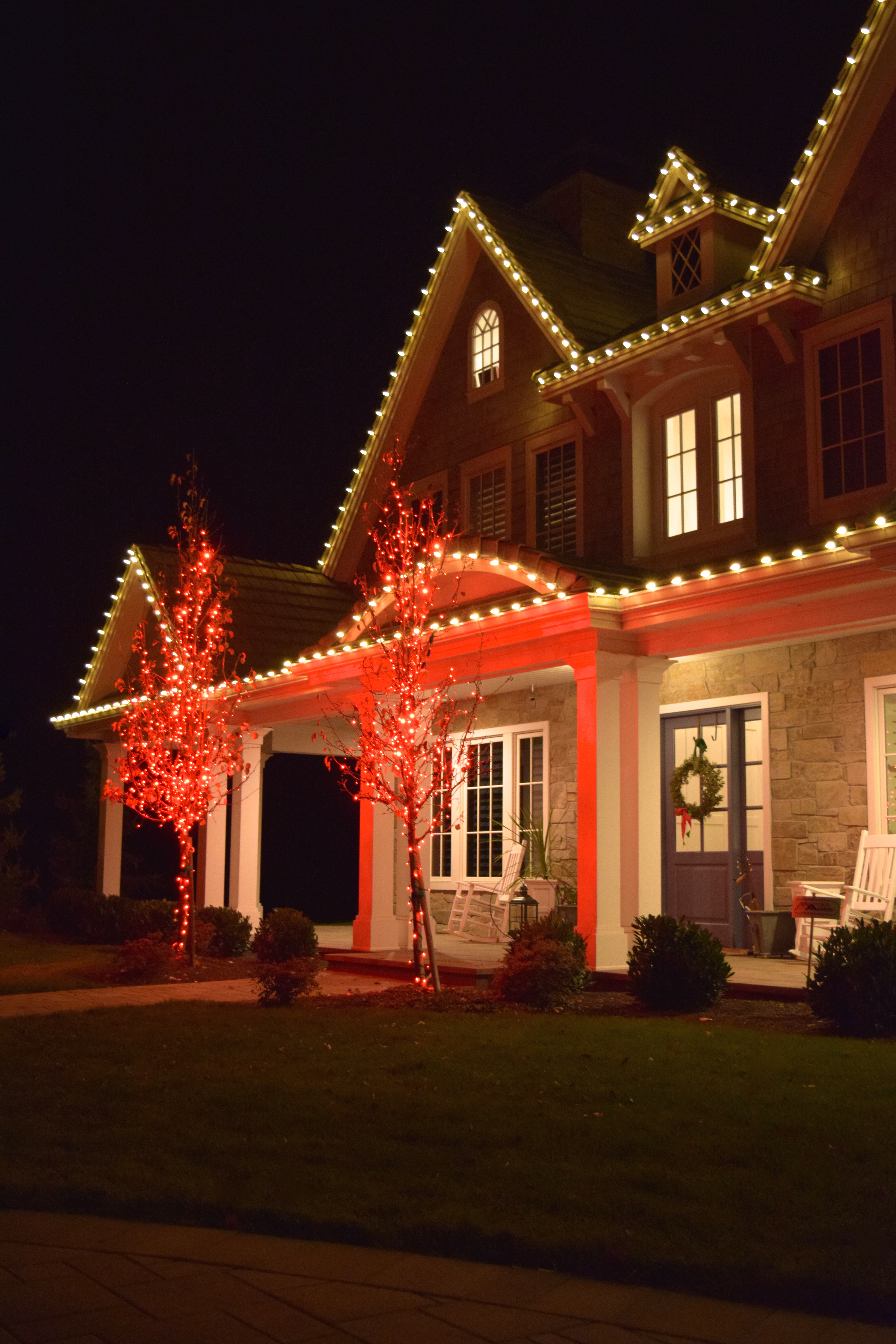 Red And White Christmas Lights.Silver Bells Christmas Light Installation Professionals