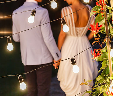 Boise wedding lighting, Silver Bells, string lights, bistro lights, professional
