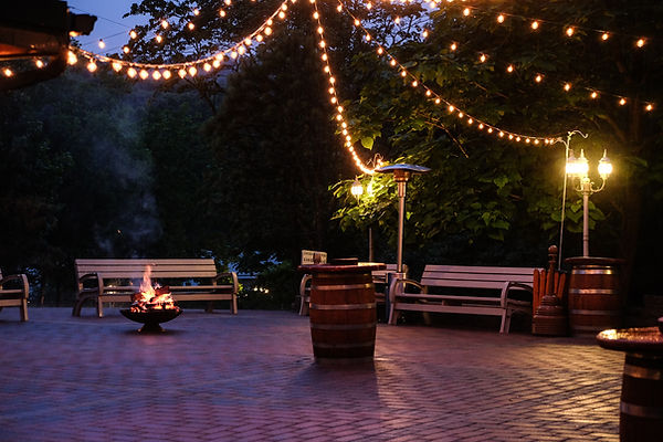 landscape lighting, patio lights, yard lights, outdoor lighting, bistro lights, string lights, hanging lights
