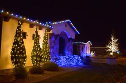 LED Christmas Lights - Warm White_Blue_Pure White Pattern - Bush Wrap