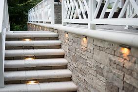 landscape lighting, outdoor lighting, deck lighting, step lights, walkway lighting