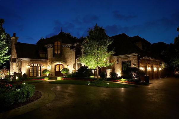 Boise, landscape lighing, Silver Bells, up lighting, yard light, yard decor, curb appeal, house lights