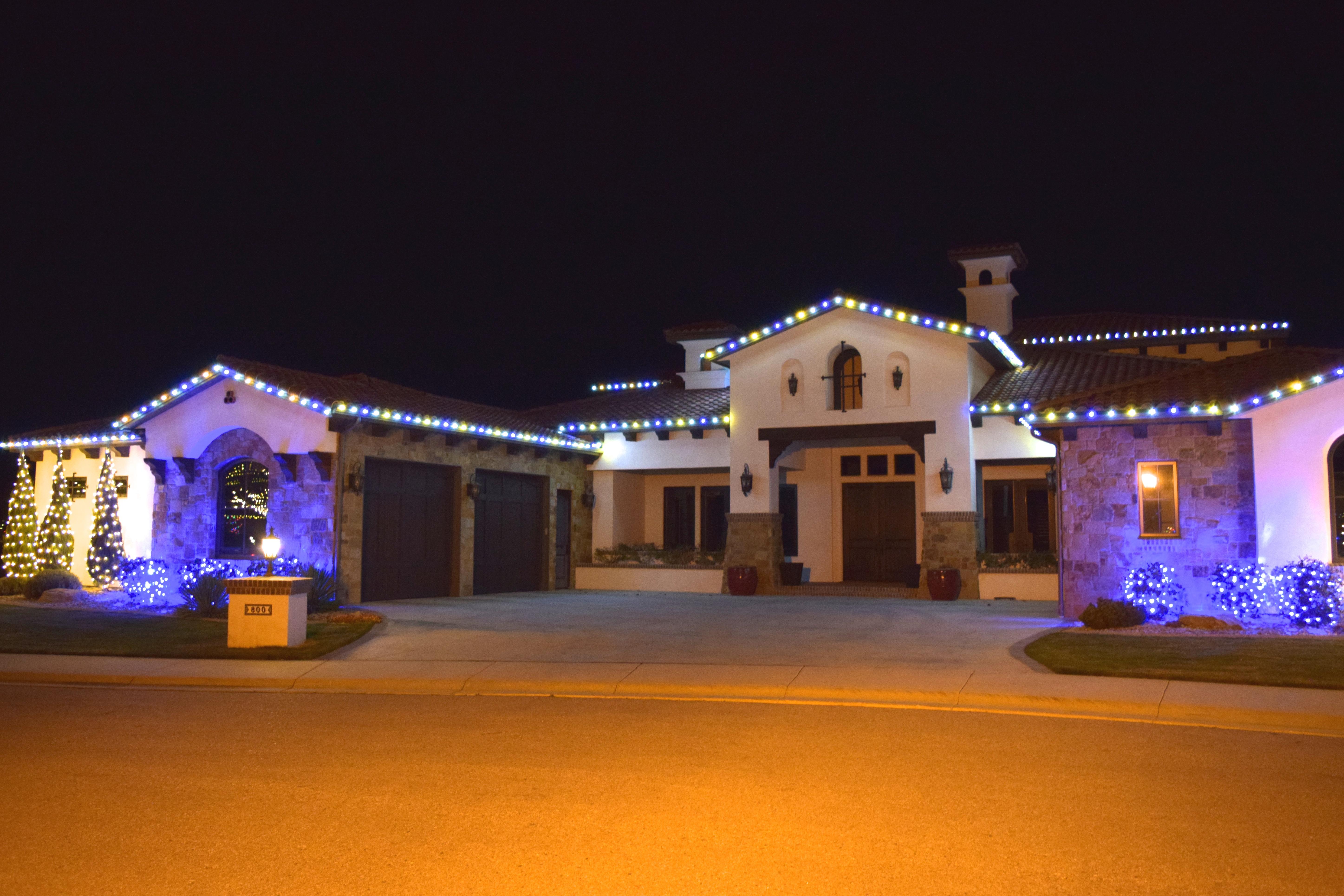LED Christmas Lights - Warm White_Blue_Pure White