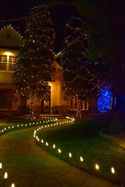LED Christmas Lights - Warm White Lighted Path