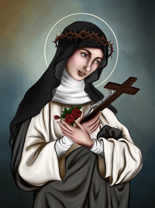 St Rose of Lima - Canvas print