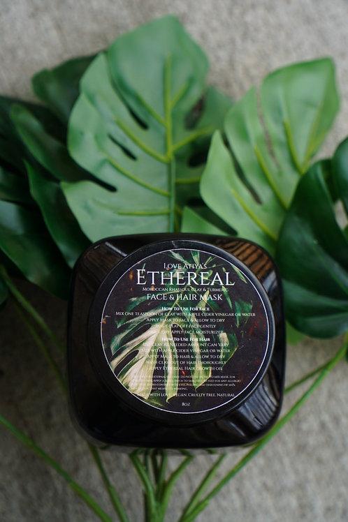 Ethereal Rhassoul Clay & Turmeric Skin & Hair Mask 8oz