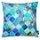 Thumbnail: Cobalt Moroccan Tile Pattern Cushion X2