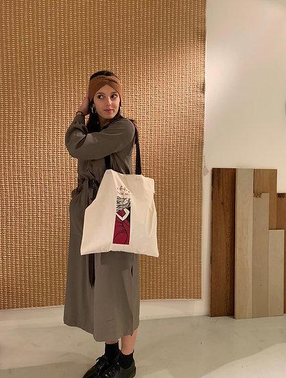 "Shopper Bag with art ""She Dreams"" by effe"