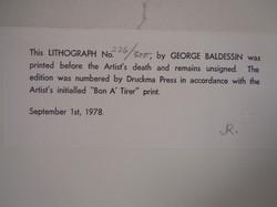 George Baldeson Lithograph Image