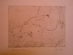 Francis Lymburner Etching Nude
