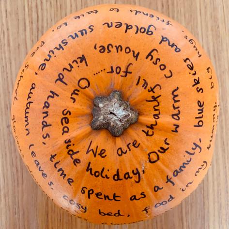 Gratitude Pumpkin