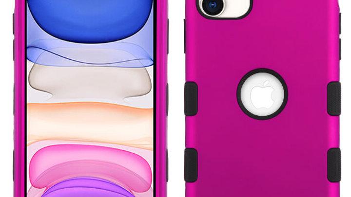 Iphone 11 Hot Pink three piece tuff case