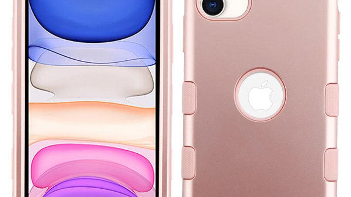 Iphone 11 Rose Gold three piece tuff case