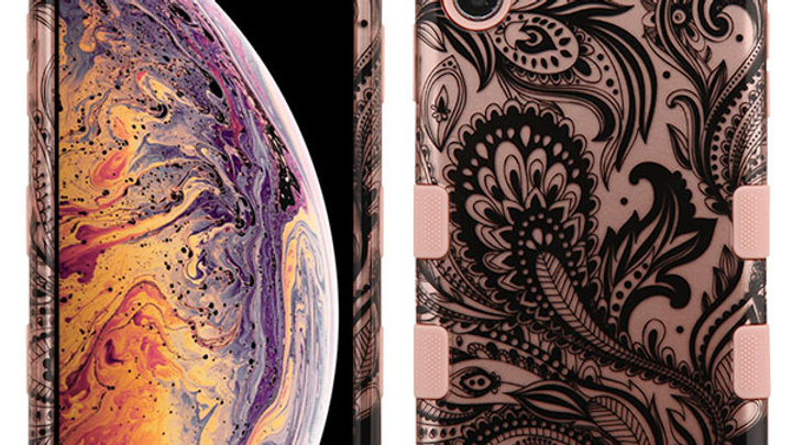 Iphone XS Max Rose Gold Leafs