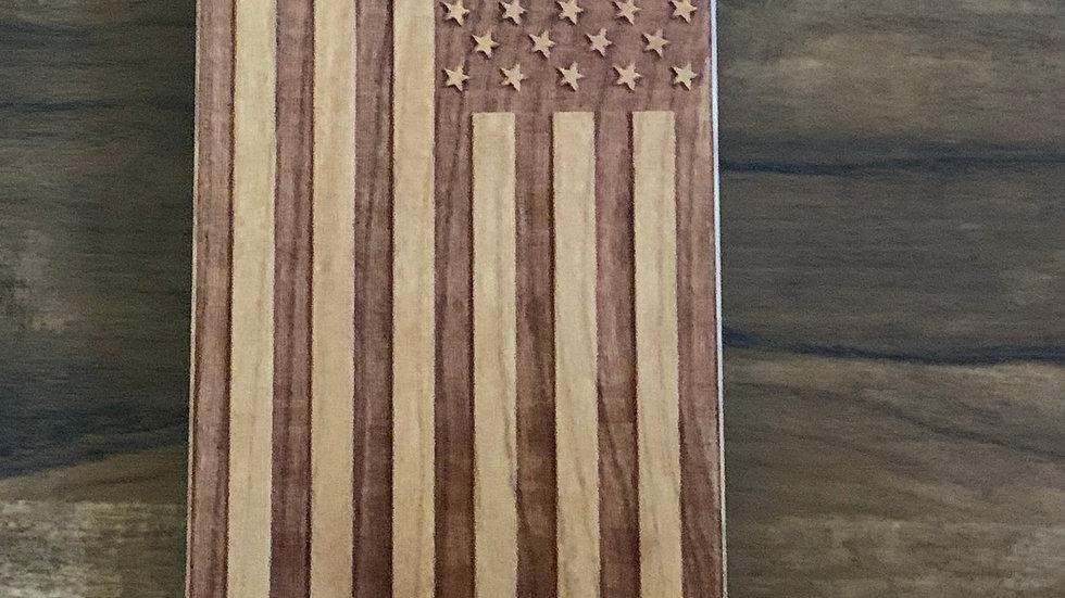 Iphone 7/8+American Flag Wood Case