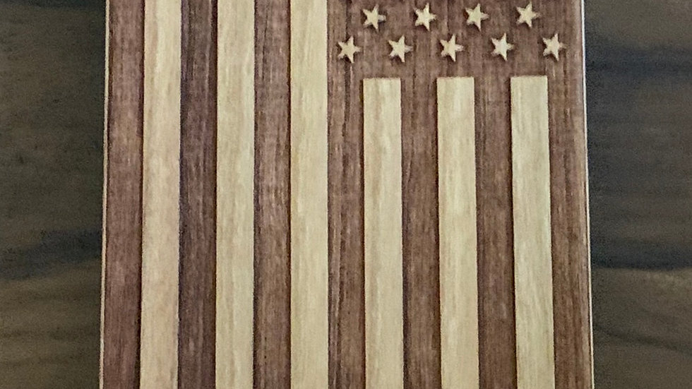 Iphone X/XS- American Flag Wood Case