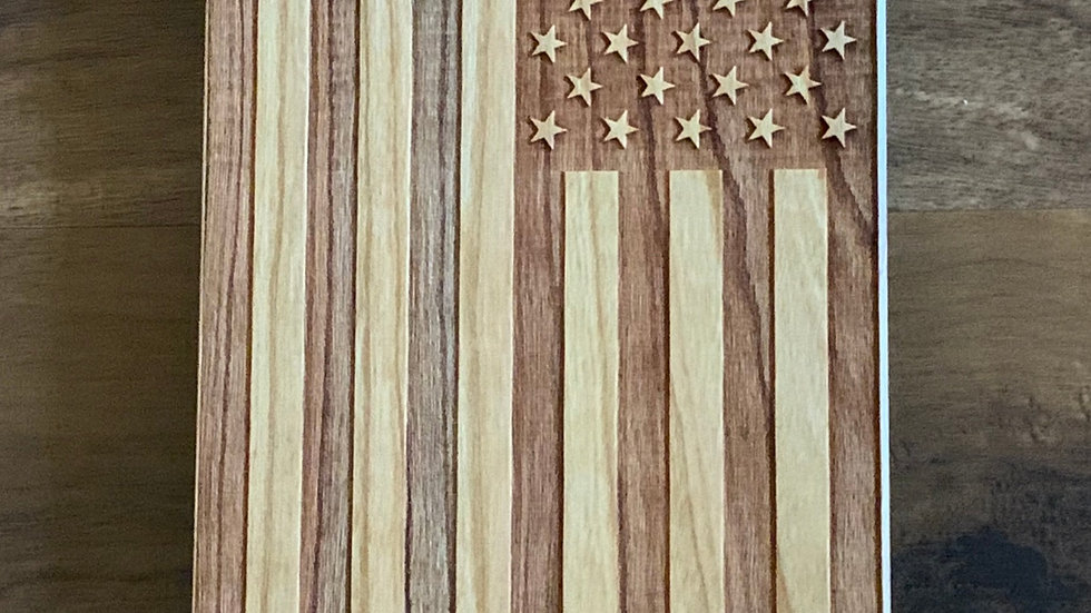 Iphone 11 pro max- American Flag Wood Case