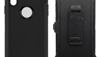 Iphone XS Max Black Heavy Duty Case