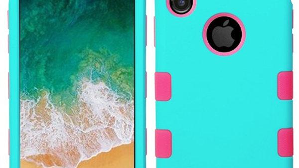 Iphone X/XS Baby Blue three piece tuff case
