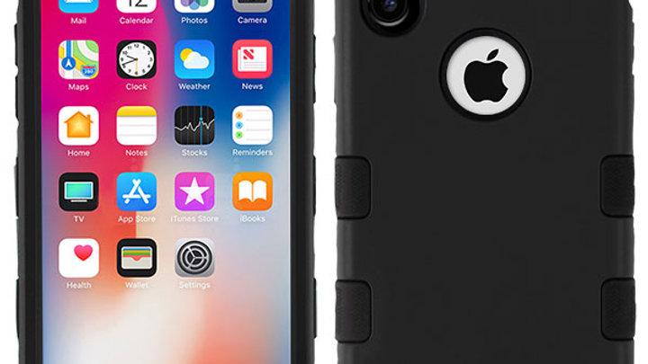 Iphone X Black three piece tuff case