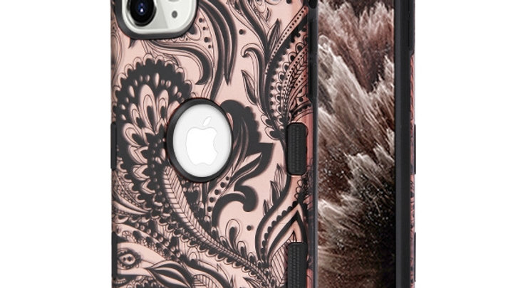 Iphone 11 Rose Gold Leafs