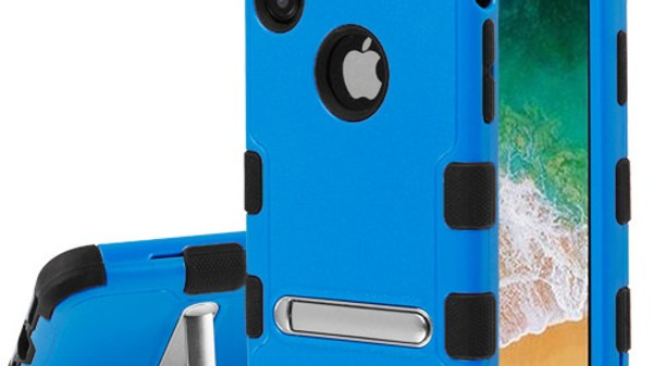 Iphone X/XS Blue kickstand three piece tuff case