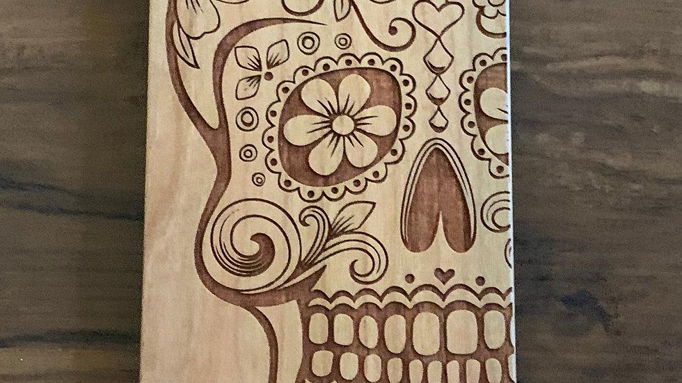 Iphone 7/8+ Skull Wood Case
