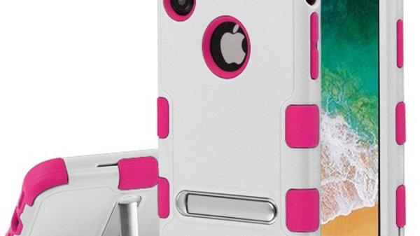 Iphone X/XS White Kickstand Three Piece