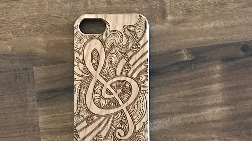 Iphone 7/8 Wood Music Note