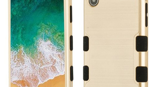 Iphone XR Gold three piece tuff case