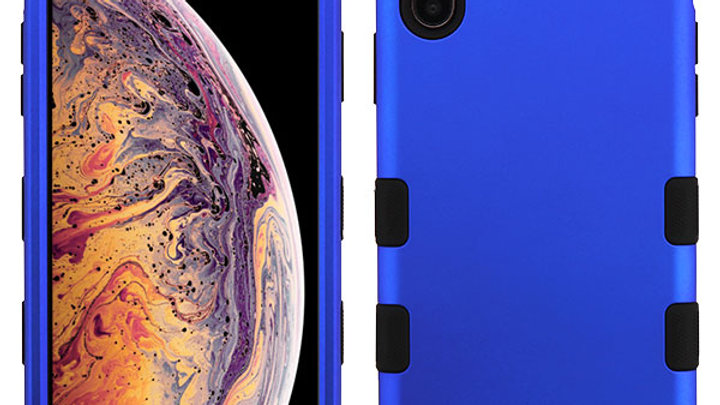 Iphone XS Max Blue three piece tuff case