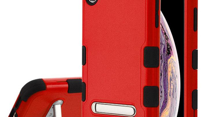 Iphone X Red three piece tuff case w/kickstand